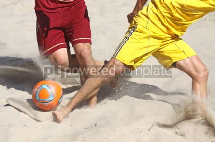 Sports: People playing soccer on a beach #04593