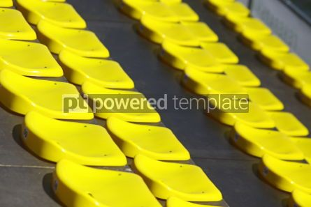 Sports : Close up yellow empty stadium seats #04596