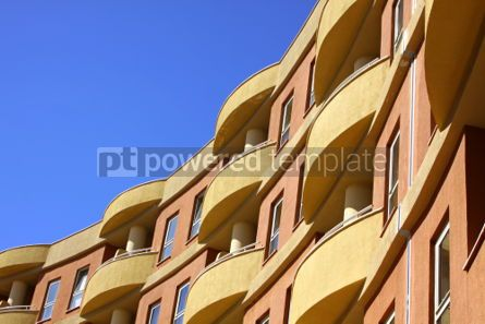 Architecture : Close-up modern building with blue sky background #04617