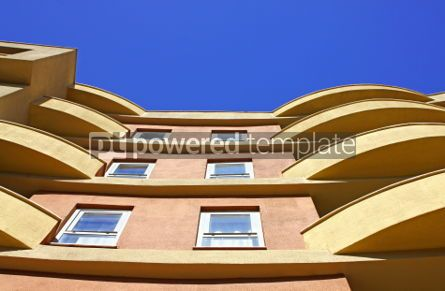 Architecture : Close-up modern building with blue sky background #04618