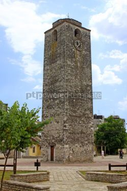 Architecture : Sahat Kula an Ottoman clock tower in Podgorica Montenegro #04626