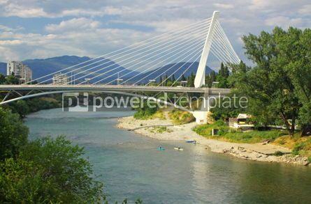 Architecture : Millennium bridge over Moraca river in Podgorica Montenegro #04629