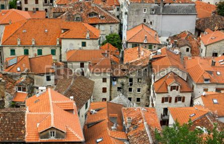 Architecture : Bird eye view of buildings in Kotor old town Montenegro #04631