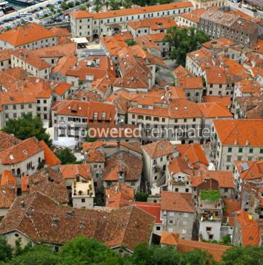 Architecture : Bird eye view of buildings in Kotor old town Montenegro #04632