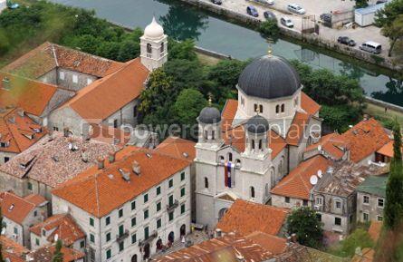 Architecture: Bird eye view of Serbian orthodox church of St. Nicholas in Koto #04636