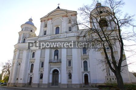 Architecture: Saint Petro and Pavlo Catholic Cathedral in Lutsk Ukraine - mon #04641