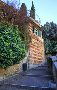 Architecture : Small street in Verona old town Italy #04648