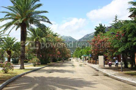 Nature: Promenade street in Bar City Montenegro  #04682