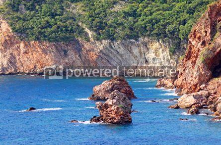 Nature: Rocky seacoast landscape. Adriatic sea Montenegro #04684