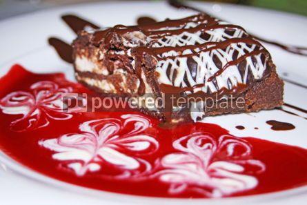 Food & Drink: Dessert  - Chocolate roll with cherry jam #04708