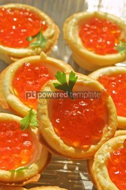 Food & Drink: Canapes with red caviar #04709