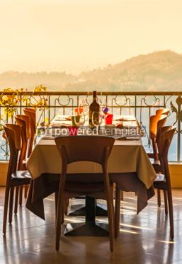 Food & Drink: Served table in an italian restaurant #04719