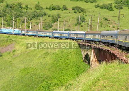 Transportation: Train crossing railway bridge #04736