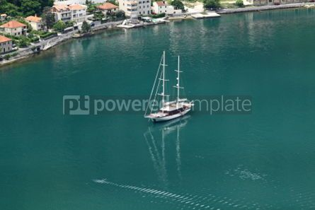 Transportation: Passenger yacht in Adriatic sea near Kotor city Montenegro #04741