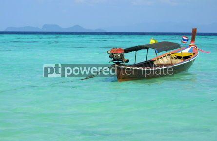 Transportation: Fish boat in Andaman sea near Lipe island Thailand #04747