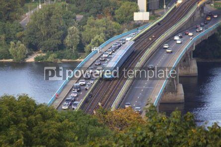 Transportation: Bird-eye view to railway bridge in Kyiv Ukraine #04750