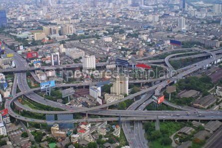 Transportation: Aerial view of Bangkok city #04759