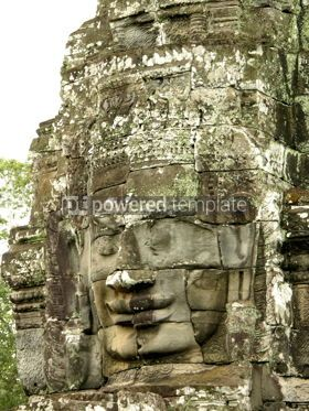 Architecture: Face of Bayon temple #04769