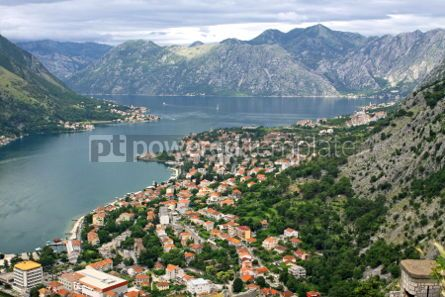 Architecture : Summer view of Kotor Bay Adriatic sea Montenegro #04778
