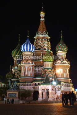 Architecture : St.Basil's Cathedral (Pokrovsky Cathedral) in night. Red Square #04782