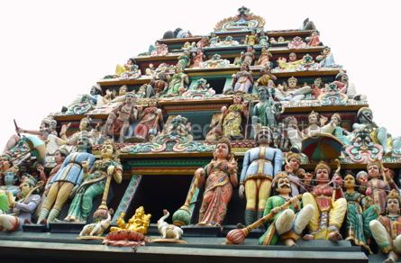 Architecture: Sculptures of Sri Mariamman Temple #04788