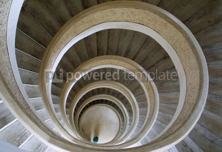 Architecture : Circular stairs in Chinese temple in Singapore #04790