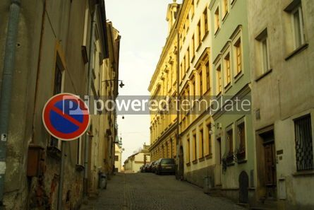 Architecture : No parking sign on the street in Olomouc #04794