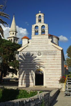 Architecture: Church of Holy Trinity in Budva Old Town Montenegro #04796