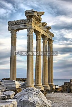 Architecture : Temple of Apollo in early evening Side Turkey. HDR filter #04797