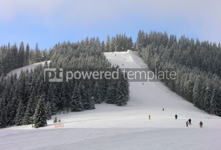 Nature: Downhill skiing route in Carpathian mountains #04807