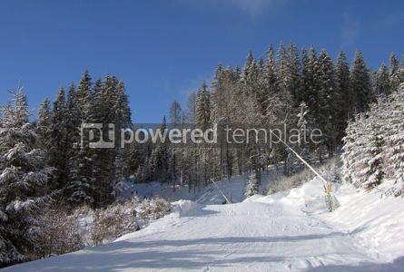 Nature: Downhill skiing route in Carpathian mountains #04809