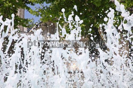Nature: Splash water in fountain #04823
