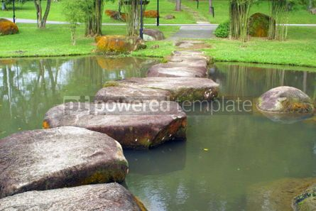 Nature: Stoneway and small lake in the Chinese Garden Singapore #04825