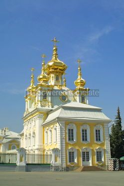 Architecture : Orthodox church at Peterhof Saint Petersburg Russia #04914