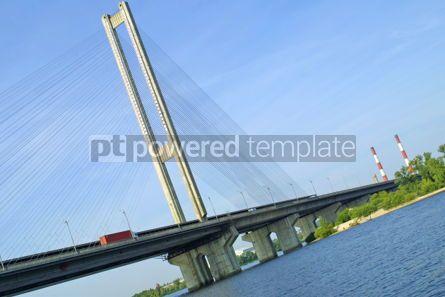 Architecture : South Bridge in Kyiv Ukraine #04916