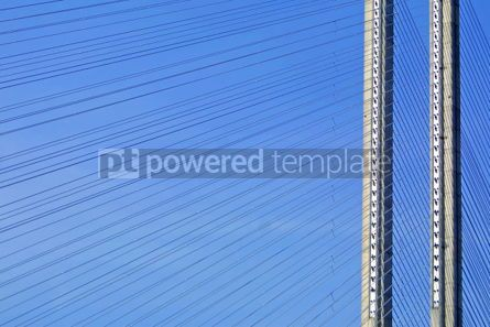 Architecture : Close-up tower of South Bridge in Kyiv Ukraine #04917