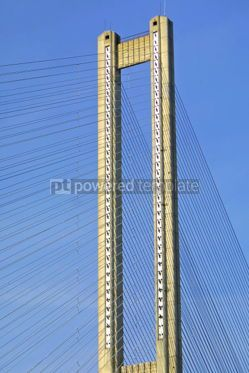 Architecture : Close-up tower of South Bridge in Kyiv Ukraine #04918