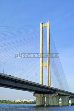 Architecture : South Bridge in Kyiv Ukraine #04919