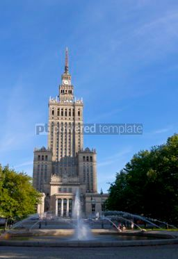 Architecture: Palace of Culture and Science in Warsaw #04923
