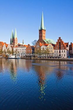 Architecture : Skyline of Lubeck old town Germany #04946