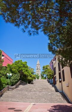 Architecture: Ancient monastery San Barnardin Portoroz Slovenia #04948