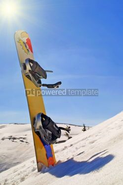 Sports : Snowboard in a snow on the mountain slope #04984