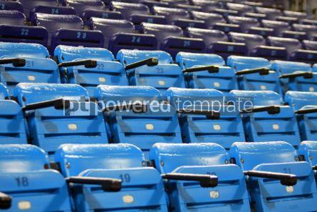 Sports: Blue empty seats on the stadium #04990