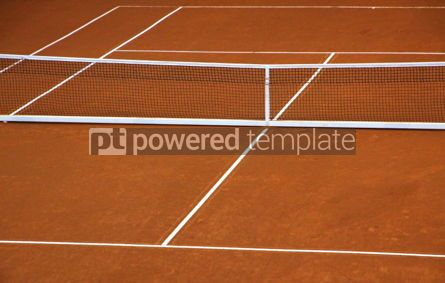 Sports: Empty clay tennis court #04997
