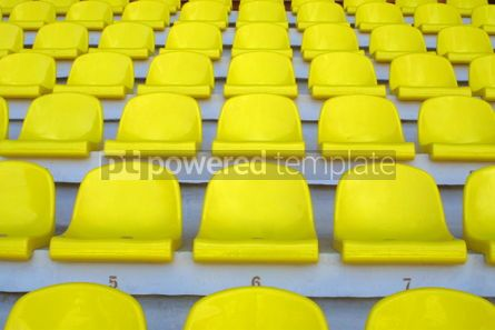 Sports : Yellow empty stadium seats #05000