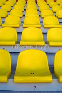Sports : Yellow empty stadium seats #05001