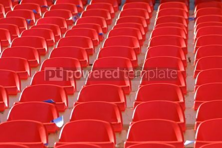 Sports : Red empty stadium seats #05006