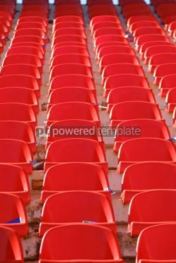 Sports : Red empty stadium seats #05007