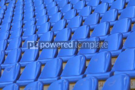 Sports: Blue empty stadium seats #05008