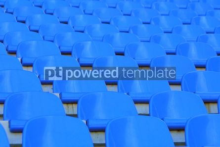 Sports : Blue empty stadium seats #05009